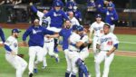 Dodgers celebrate after winning the 2020 World Series